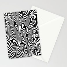 Trippy Background Stationery Cards