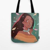 Pocahontas Portrait Tote Bag