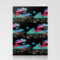 candy mountains over lollipop trees Stationery Cards