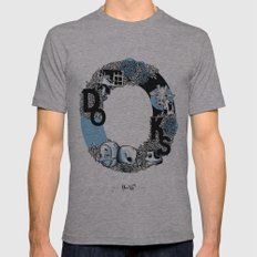 O DOKS Mens Fitted Tee Athletic Grey SMALL