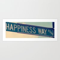 Happiness Way Art Print