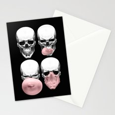 Skulls chewing bubblegum Stationery Cards