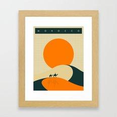 Morocco Travel Poster Framed Art Print