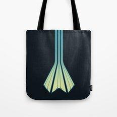 Retro Lines - Blue Flame Tote Bag