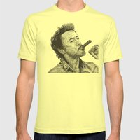 Robert Mens Fitted Tee Lemon SMALL