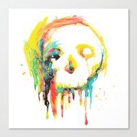 Happy/Grim Canvas Print