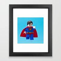 Superman's Guilty Secret Framed Art Print