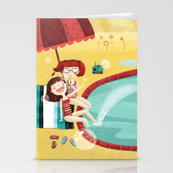 SUMMER MEMORIES WITH MY BEST FRIEND Stationery Card