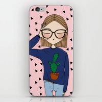 SELFIE  with prickly background iPhone & iPod Skin