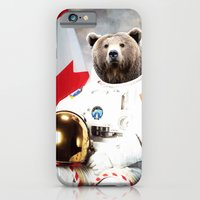 iPhone Cases featuring Astronaut Bear by Maioriz Home