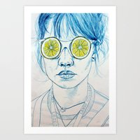 Lemon Lady Art Print
