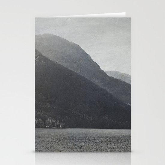 In the Shadows of Mountains Stationery Card