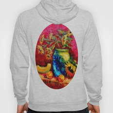 Blue Tiffany Vase and Sunflowers Painting Hoody