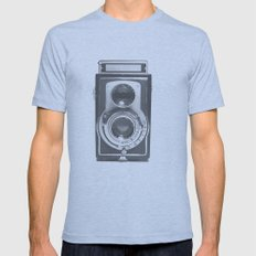 Vintage Camera Mens Fitted Tee Athletic Blue SMALL