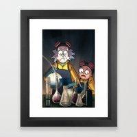 Breaking Morty Framed Art Print