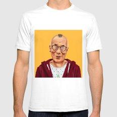 Hipstory -  Dalai Lama Mens Fitted Tee White SMALL