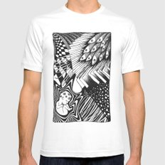 PSYKE2 SMALL White Mens Fitted Tee