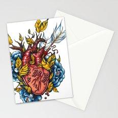 Pomegranate Heart Stationery Cards