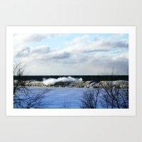 winter wave Art Print