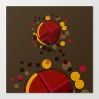 Circular Brown Abstract … Canvas Print