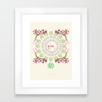 yoga garden III Framed Art Print