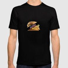 America Sensored:United States OF Burgerland Black Mens Fitted Tee SMALL