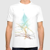 Christmas Tree Fractal Mens Fitted Tee White SMALL