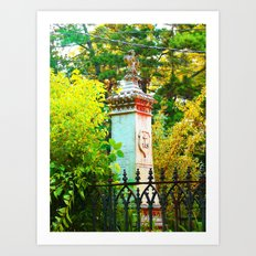 Behind The Gate Art Print