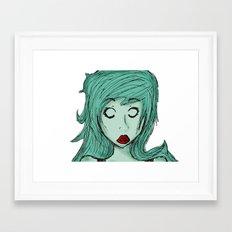 Zomble. Framed Art Print