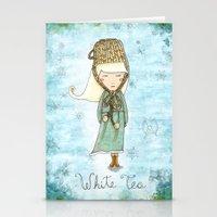 White Tea Girl Stationery Cards