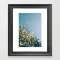 Renew Framed Art Print