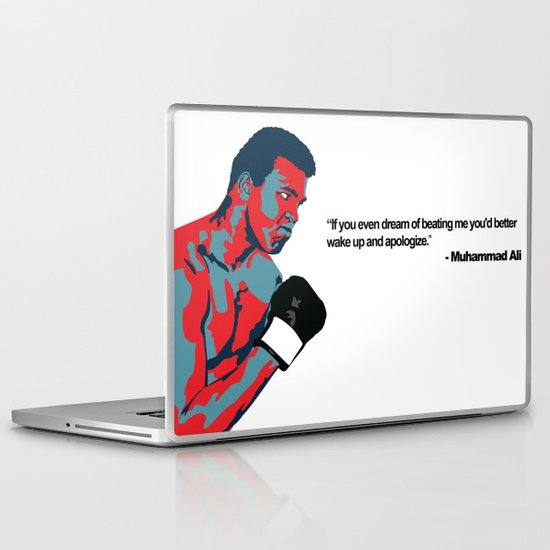 Muhammad Ali, The Greatest of All Time Laptop & iPad Skin