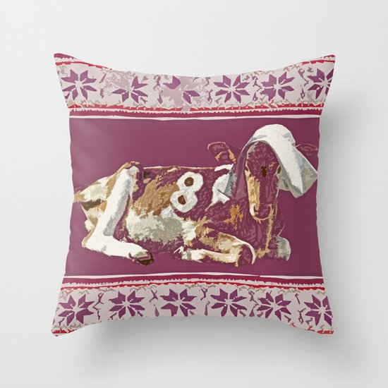 8 Maids-a-Milking - 12 Days of Christmas Series Throw Pillow