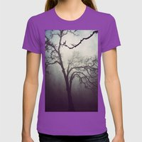 Silent Anticipation Womens Fitted Tee Ultraviolet SMALL