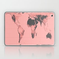 World Map: Gall Peters Pink Laptop & iPad Skin