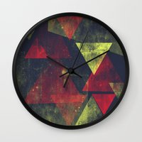 weathered triangles Wall Clock