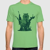 Paint Tiger Mens Fitted Tee Grass SMALL