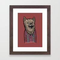 Hipster Wolf Framed Art Print