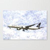 Star Alliance Boeing 777… Canvas Print