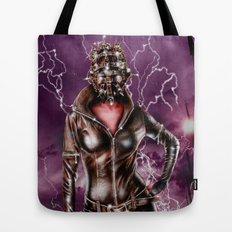 Leather warrior girl Tote Bag