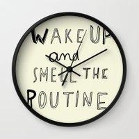 WAKE UP Wall Clock