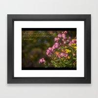 Plant A Flower Framed Art Print