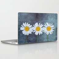 Three Marguerites Laptop & iPad Skin