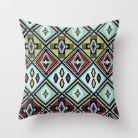 NATIVE AMERICAN PRINT Throw Pillow