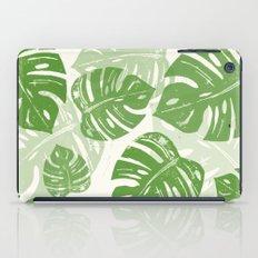 Linocut Leaf Pattern iPad Case