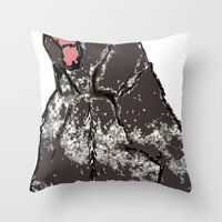 He's A Bear In A Bad Moo… Throw Pillow