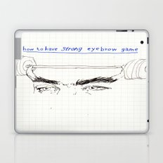 strong eyebrows Laptop & iPad Skin