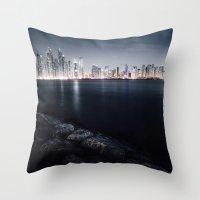 Dubai Night Throw Pillow