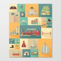 San Francisco Landmarks Canvas Print
