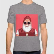 Hipstory -  Santa Claus Mens Fitted Tee Tri-Grey SMALL